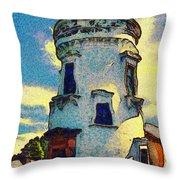 Corbiere Lighthouse Throw Pillow