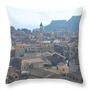 Corfu City 2 Throw Pillow