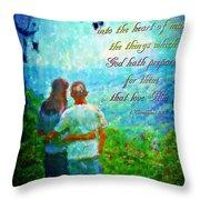 1 Corinthians 2 9 Throw Pillow