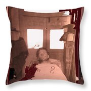 Corpse Bullet Holes Train Robber Cole Estes Aka Cole Young 1872-1896 Collage 1896-2012  Throw Pillow