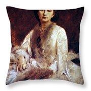 Cosima Wagner (1837-1930) Throw Pillow