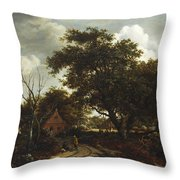 Cottages In A Wood Throw Pillow