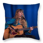 Country Blues Singer Rory Block In Concert Throw Pillow