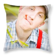 Country Golf Throw Pillow