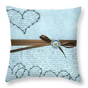 Country Hearts Throw Pillow