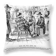 Country Store, 1894 Throw Pillow