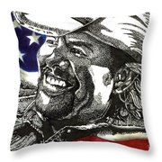 Courtesy Of The Red White And Blue Throw Pillow