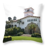 Courthouse Santa Barbara Throw Pillow