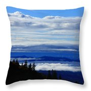 Courthouse Valley Sea Of Clouds Throw Pillow