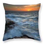 Covered By The Sea Throw Pillow