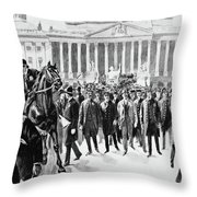 Coxey's Army, 1894 Throw Pillow