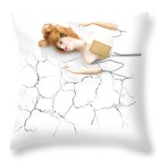 Cracked And Broken Throw Pillow