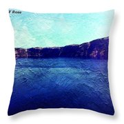 Crater Lake As A Painting Throw Pillow