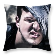 Crazy About Garbage Throw Pillow