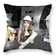 Creative Architecture Team Throw Pillow