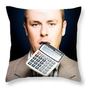 Credit Crunch Or Financial Struggle Throw Pillow