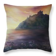 Criccieth Castle North Wales Throw Pillow