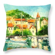 Croatia - Split Throw Pillow
