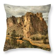 Crooked River Bend Throw Pillow