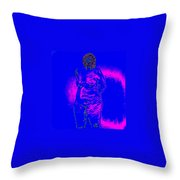 Croquis In Blue Throw Pillow