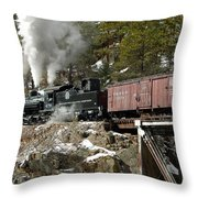 Crossing The High Bridge Throw Pillow
