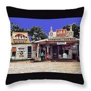 Crossroads Store Bar Juke Joint And Gas Station Fsa Marion Post Wolcott Melrose Louisiana Throw Pillow