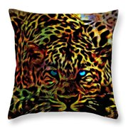 Crouching Cheetah Throw Pillow
