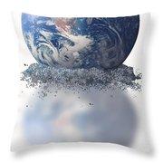 Crumbling Earth Throw Pillow