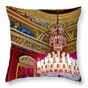 Crystal Chandelier In Dolmabache Palace In Istanbul-turkey  Throw Pillow
