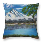 Crystal Mountain Throw Pillow