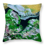 Crystal Reef Throw Pillow