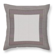 Crystal White And Gray Dots Design Pattern Shade Deco Decoration Throw Pillow