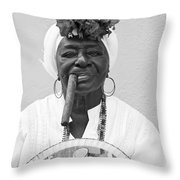 Cuban Lady Throw Pillow
