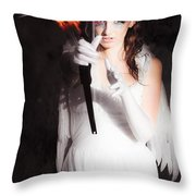 Cupid Angel Of Romance Setting Hearts On Fire Throw Pillow