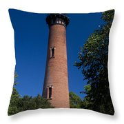 Currituck Beach Lighthouse Throw Pillow
