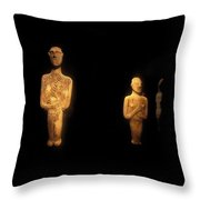 Cycladic Figurines Throw Pillow
