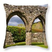 Cymer Abbey Snowdonia Throw Pillow