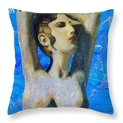 Cyprus Map And Aphrodite Throw Pillow