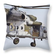Czech Air Force Mi-171 Hip Helicopter Throw Pillow