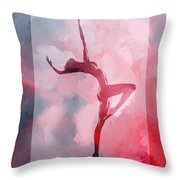 Dancing In The Clouds Throw Pillow