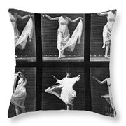 Dancing Woman Throw Pillow