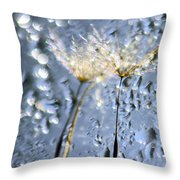 Dandelion Fireworks Throw Pillow