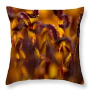 Bordeaux Red Stamens Throw Pillow