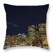 Darling Harbour In Sydney Australia Throw Pillow