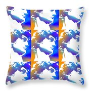 David Repeat Treatment One Color Throw Pillow