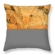 Dawn At Bridge Mountain Throw Pillow