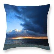Dawn Over The Ocean Throw Pillow