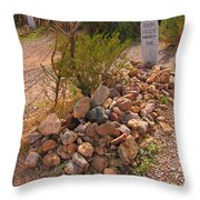Dead In Tombstone Throw Pillow