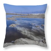 Dead Sea Landscape Throw Pillow