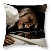 Deadly Duplications Throw Pillow